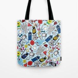 Lord of Time Megamix Blue Tote Bag