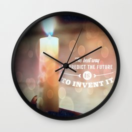Predict The Future, Invent It !! Wall Clock