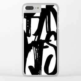Minimal Typography Print Clear iPhone Case