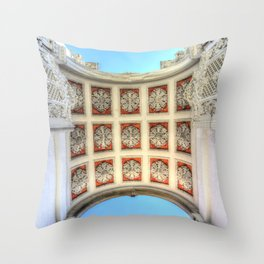 Dolmabahce Palace Istanbul Arch Throw Pillow