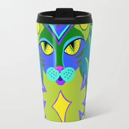 Peacock Tabby Noire Travel Mug