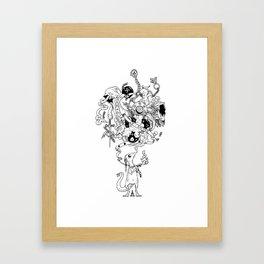 Philosophorum Salamandra Framed Art Print