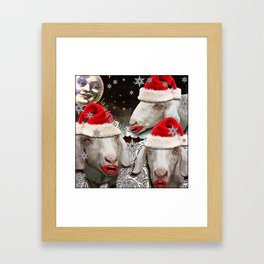 Midnight caroling was really catching on! Framed Art Print