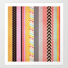 Washi Tape Art Print
