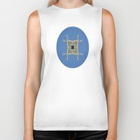 salvador dali Biker Tanks featuring Salvador Dali Tribute  by Louisa Catharine Art And Patterns