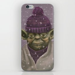 Christmas Yoda (fiolet) iPhone Skin