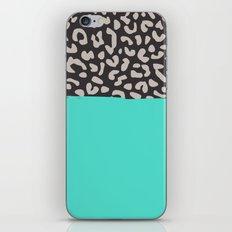 Colorblock Leopard iPhone & iPod Skin