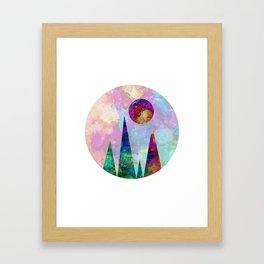 Sun Peak Framed Art Print