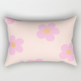 Retro 60's Flower Power 4 Rectangular Pillow