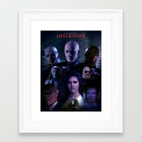 saga Framed Art Prints featuring Hellraiser Saga by Saint Genesis