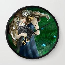 Owls at Midnight Wall Clock