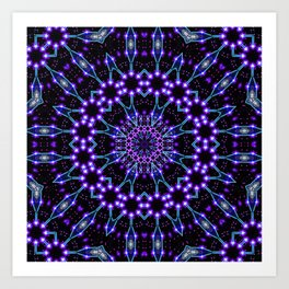 Light Structures Mandala Art Print