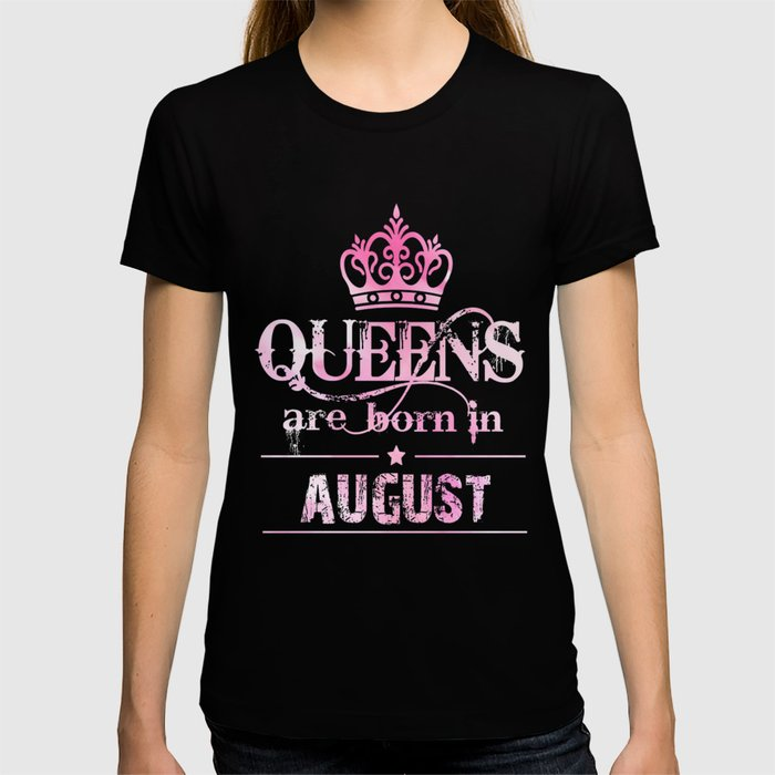 Birth Month Tshirt Happy August T Shirt For Women Cool Gifts By Phungtheanh77321