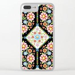 Millefiori Tile Pattern Clear iPhone Case