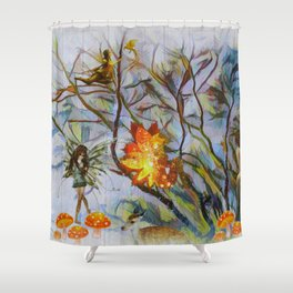 The Secret Keepers Of Autumn Shower Curtain