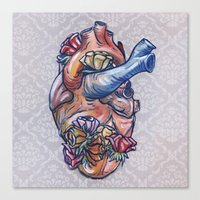 valentine Canvas Prints featuring Valentine by Manfish Inc.