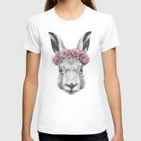 hare T-shirts featuring Hare  by Victoria Novak