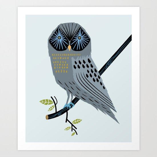 The Perching Owl Art Print