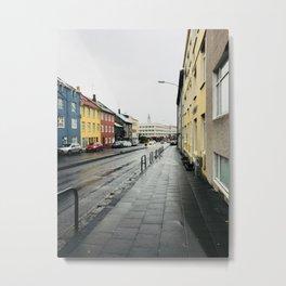 On the Streets of Reykjavík Metal Print