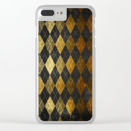 Black and gold geometric abstract pattern II- Luxury design for your home Clear iPhone Case