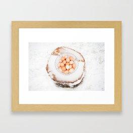 Fresh Eggs Framed Art Print