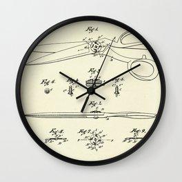 Shears-1887 Wall Clock