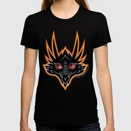 Smiling Dragon Face Design T-shirt