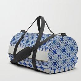 New Classic Blue Tiles Duffle Bag