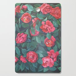 Camellias, lips and berries. Cutting Board