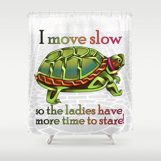Pimpinu0027 Turtle Knot Shower Curtain