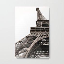 Looking up the Eiffel Metal Print