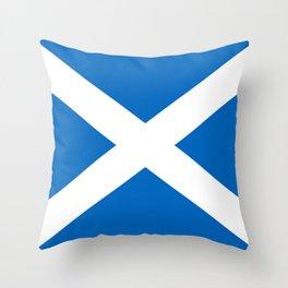 Scottish flag Saltire Throw Pillow