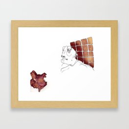 Smell faded Framed Art Print