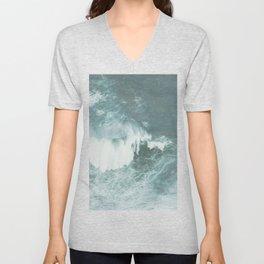 Faded sea Unisex V-Neck