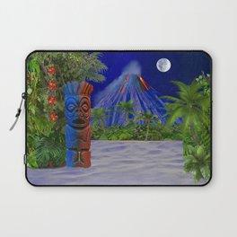 Tiki Art Background Laptop Sleeve