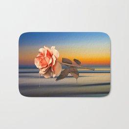 Calm, Rose, Flower, Home Decor, Scenic Wall Art, Printable Artwork, Digital Print, Christmas, Sunset Bath Mat