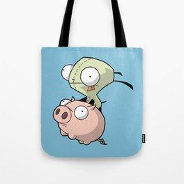 Gir and Piggy Tote Bag