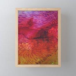 Textured Chrysanthemum | Jewel Toned Fuschia Gold Framed Mini Art Print