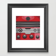 Dalek Red - Doctor Who Framed Art Print