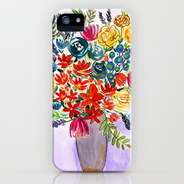 Autumn wildflowers in a vase iPhone Case