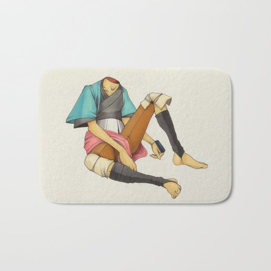 When I Was Little, My Father Was Famous. (No type) Bath Mat