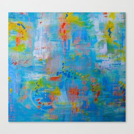 Colorful Abstract Wall Art, Vibrant colors, Contemporary home decor Canvas Print