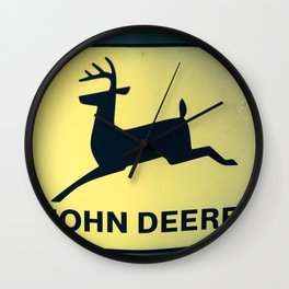 The Old Tractor Logo  (John Deere) Wall Clock