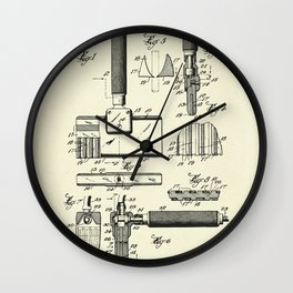 Shaving implement-1928 Wall Clock