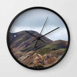 Landmannalaugar rainbow mountains in Iceland - landscape photography Wall Clock
