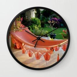 Tropical Caribbean Island Resting  Wall Clock