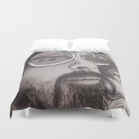 dave grohl Duvet Covers featuring Dave Grohl by Erin Michal