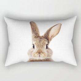 Baby Rabbit, Brown Bunny, Baby Animals Art Print By Synplus Rectangular Pillow