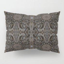 Curves & Lotuses, Black Brown Taupe Pillow Sham