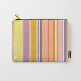 khaki and burly wood colored stripes Carry-All Pouch